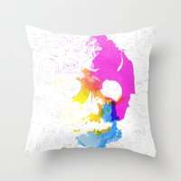 Skull Pop  Throw Pillow