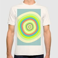 Circles Mens Fitted Tee Natural SMALL