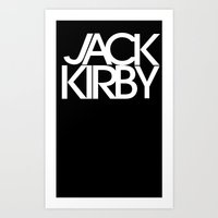 Classic : Jack Kirby Black  Art Print
