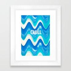 CHILL BEACH WAVE Framed Art Print