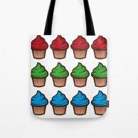 RGB Cupcakes Tote Bag