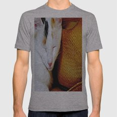 The Cowboy's Cat Mens Fitted Tee Athletic Grey SMALL