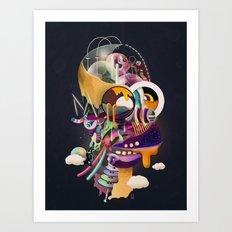HOMER ON ACID Art Print