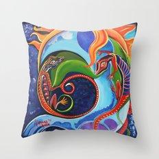 Lizard Moon Throw Pillow