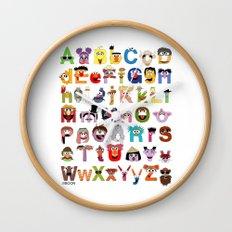 Sesame Street Alphabet Wall Clock