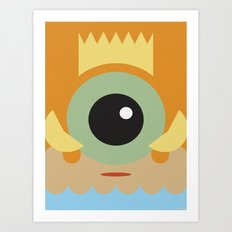 FISHER KING Art Print