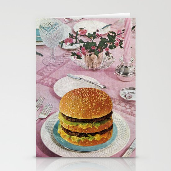 BURGER Stationery Card