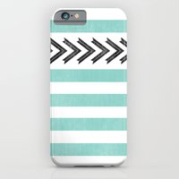 ARROW STRIPE {TEAL} iPhone 6 Slim Case