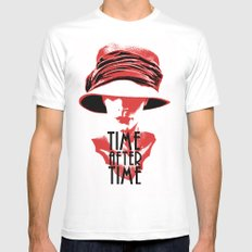 Time After Time Rouge Mens Fitted Tee White SMALL