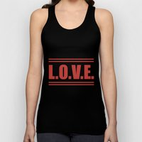 LOVE  Russian Autumn Unisex Tank Top