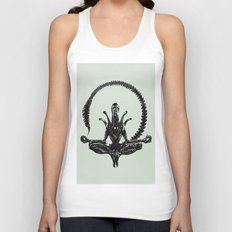 Meditation Alien Unisex Tank Top