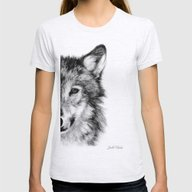 WOLF Womens Fitted Tee Ash Grey MEDIUM