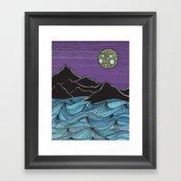 Meet Me Under the Moon Framed Art Print
