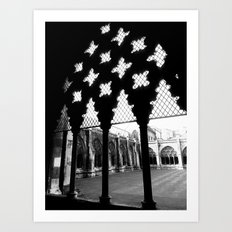 Courtyard Of The Abbey Art Print