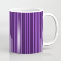 Purple Double Stripes Pa… Mug