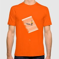 Urban Consumers Mens Fitted Tee Orange SMALL