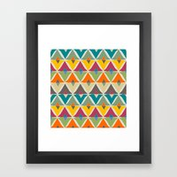 My Diamonds Shapes Framed Art Print