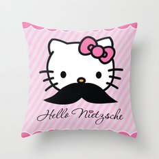 Hello Nietzsche Throw Pillow