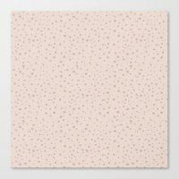 PolkaDots-Rose On Peach Canvas Print