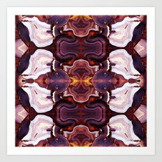 Agate Red in the Face. Art Print