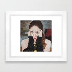 Bat-man • SuperHeroines Framed Art Print