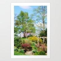 Spring Garden Setting Art Print
