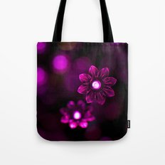 Electric Flowers (Purple) Tote Bag