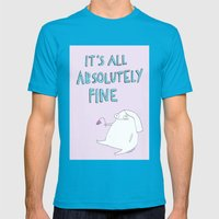 absolutely fine Mens Fitted Tee Teal SMALL
