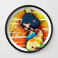 Koi Wall Clock