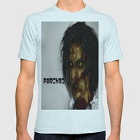 Zombie!!  Mens Fitted Tee Light Blue SMALL