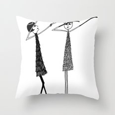 Vamping it up Throw Pillow