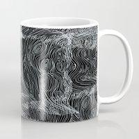 inverted brain map Mug