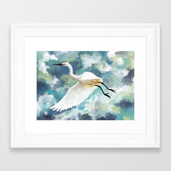 Florida Egret Framed Art Print