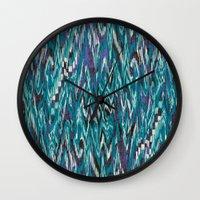 Ikat4 Wall Clock