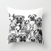 Just Dogs Throw Pillow