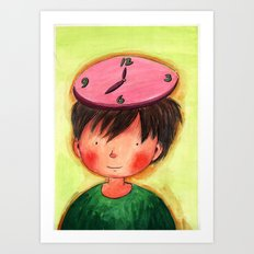 The Clock On My Head Art Print