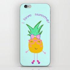 Cute Hipster Pineapple iPhone & iPod Skin