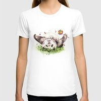 panda T-shirts featuring Panda by Anna Shell