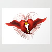 HeartBirds Art Print