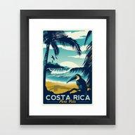 Costa Rica Retro Vintage… Framed Art Print