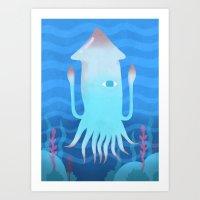 Giant Squid Art Print