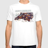 NORTH CAROLINA Mens Fitted Tee White SMALL