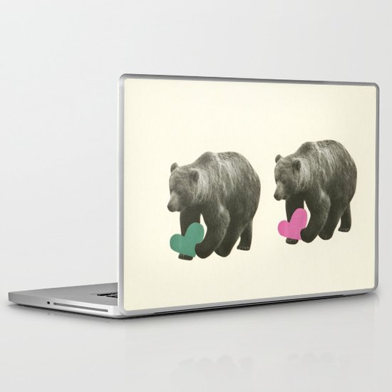 A Bear Romance Laptop & iPad Skin