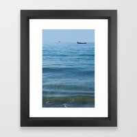 Boat out to Sea Palolem Framed Art Print