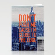 Don't Push Me Stationery Cards