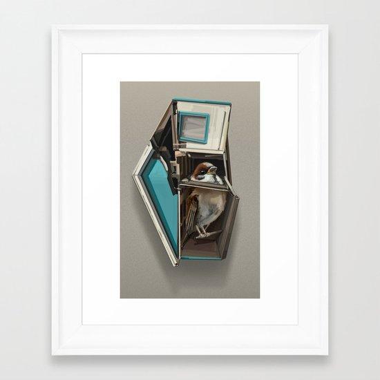 home bird Framed Art Print