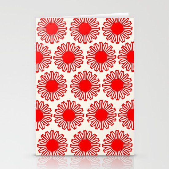 Vintage Flower-Red Stationery Card