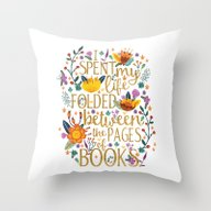Folded Between The Pages… Throw Pillow