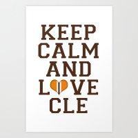 LOVE CLE BROWNS II Art Print