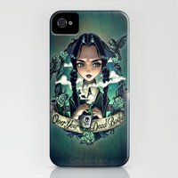 iPhone Cases featuring OVER YOUR DEAD BODY by Tim Shumate